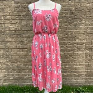 Elle Women's Size Small Pink Floral Dress